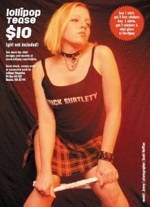 Model Tee Ads from Issue 64: Jenny