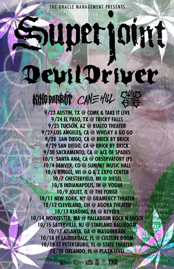 DevilDriver Tour with Superjoint – News